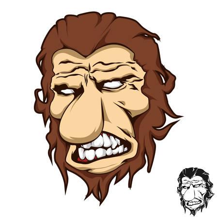 Chimp Monkey Ape Screaming Sream  Orangutan