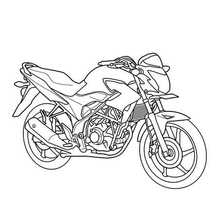 motorbike line design vector