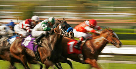 Abstract Motion Blur Horse Race Stock Photo - 4554280