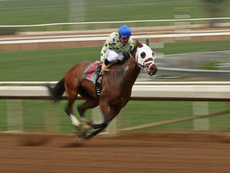 ARCADIA, CA - FEB 7: Jockey Santiago Gonzalez guides