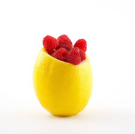 Raspberry in lemon
