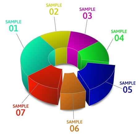 Colorful Business Pie Chart for Your Documents, Reports and Presentations