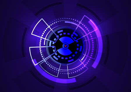 Techno Vector Circle Abstract Background Иллюстрация