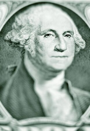 Close-up of George Washington on a one dollar bill