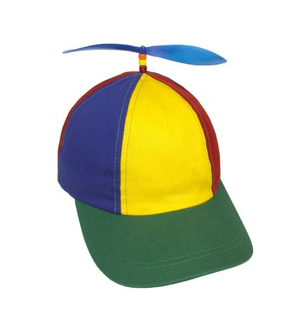 Beanie cap with propeller
