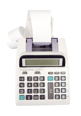Adding Machine Stock Photo