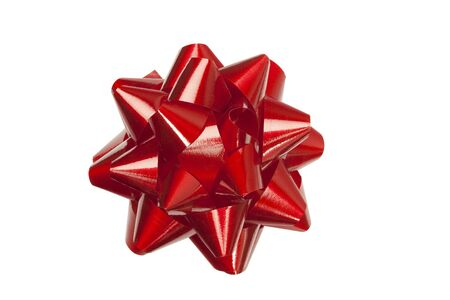 Red festive bow Stock Photo