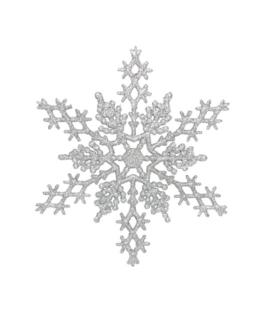 Silver snowflake photo