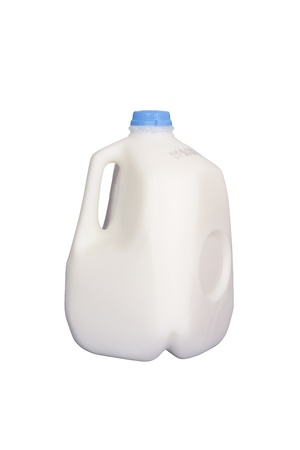 Gallon of milk, isolated w/clipping path Archivio Fotografico