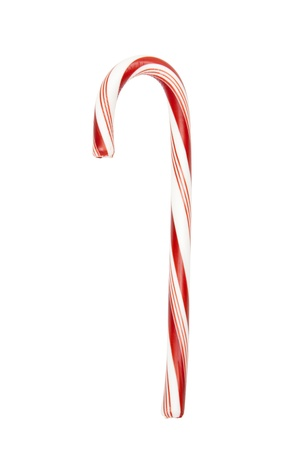 Red and white candy cane, isolated wclipping path