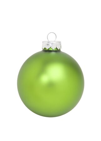 Green Christmas Ornament, isolated wclipping path Stock Photo