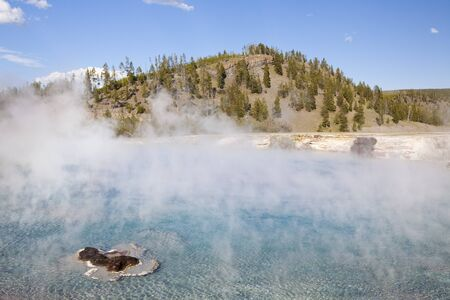 excelsior: Excelsior geyser pool at yellowstone national park Stock Photo