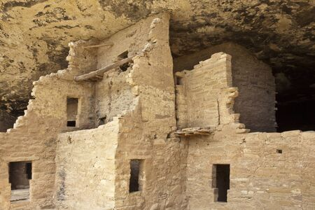 adobe pueblo: Native american cliff dwelling, Spruce Tree House, Mesa Verde National Park Editorial