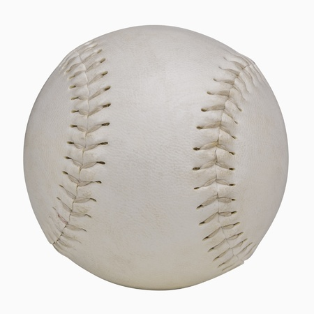 Softball isolated on white, includes clipping path
