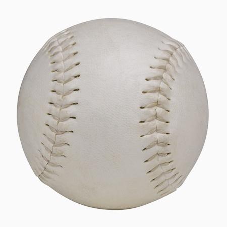 softbol: Softbol aislado en blanco, incluye el trazado de recorte Foto de archivo