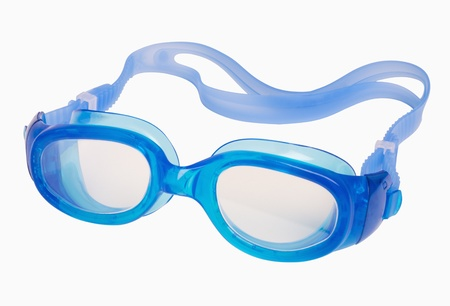 Swimming goggles isolated on white, includes clipping path Stock Photo