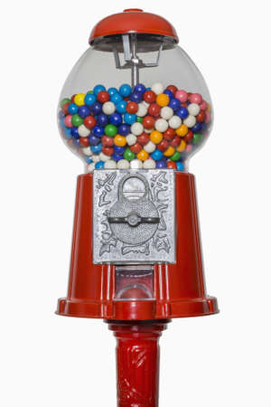 gumball: Gumball machine isolated on white, includes clipping path