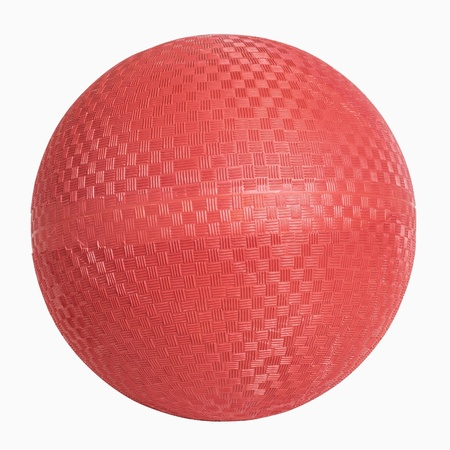 Red rubber wall ball isolated on white, includes clipping path Stock Photo