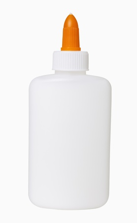 Glue bottle, isolated, includes clipping path