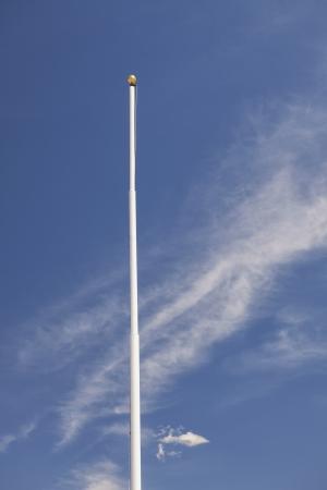 Flagpole with no flag, Scipio, Utah Stock Photo