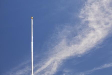 Flagpole with no flag, Scipio, Utah Foto de archivo