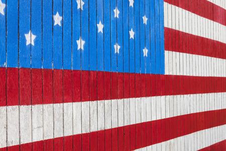 American flag on side of barn, Washington
