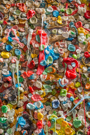 Gum Wall in Seattle, tourists from all over the world have come to stick chewing gum to a wall near Pikes Place Market, Washington Stock Photo - 22998804