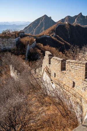 Original section of the great wall of China, Jinshanling photo