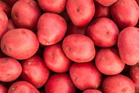 Bushel of red potatoes