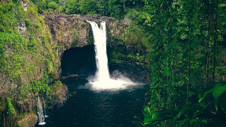 big island: Rainbow Falls at Wailuku River State Park in Hilo on the Big Island of Hawaii