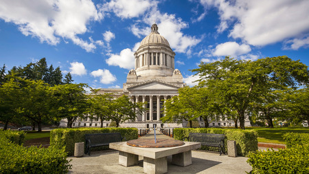 The Washington state Capitol building in Olympia, Washington