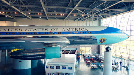 ronald reagan: Air Force One on Display at the Ronald Reagan Presidential Library and Museum