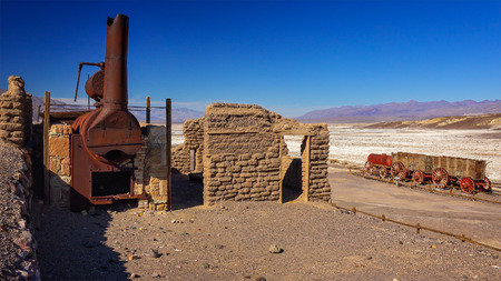 The remains of Harmony Borax Works in Death Valley National Park, California