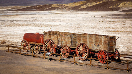 borax: Twenty mule team wagon carried borax out of Death Valley National Park