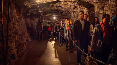 powerplant: Tourists walk through the tunnels of Hoover Dams powerplant