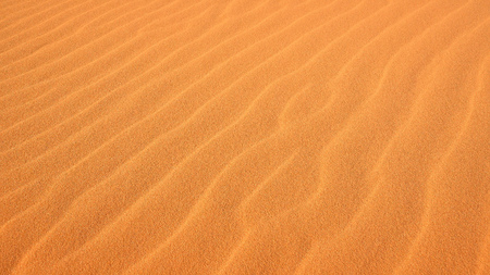 desert sand: Close-up of ripples in the sand at Coral Pink Sand Dunes State Park in Kanab, Utah