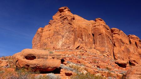 Rote Felsformation am Snow Canyon State Park in St. George, Utah Standard-Bild - 54736799