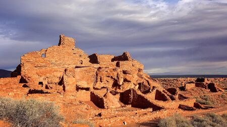 hopi: Wupatki Pueblo at Wupatki National Monument in northern Arizona Stock Photo