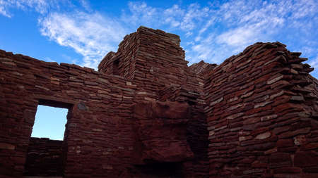 pueblo: A window against the sky in the native american ruins at Wupatki National Monument Stock Photo