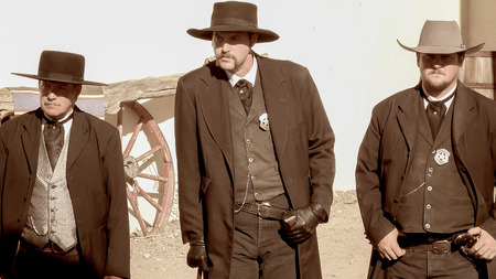 Gunslingers in the streets of the wild west town of Tombstone, Arizona Editorial