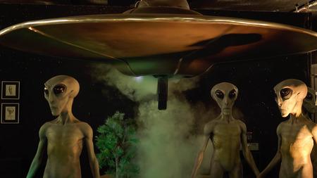 Alieni e navicella spaziale in mostra al Museo di UFO internazionale e Centro di Ricerca Archivio Fotografico - 55058235