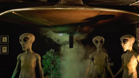 ufology: Aliens and spaceship on display at the International UFO Museum and Research Center