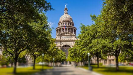 Texas State Capitol building in Austin in spring