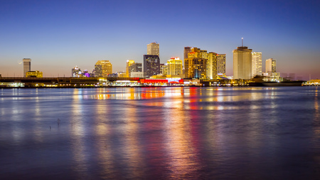 Downtown New Orleans skyline across the Mississippi River