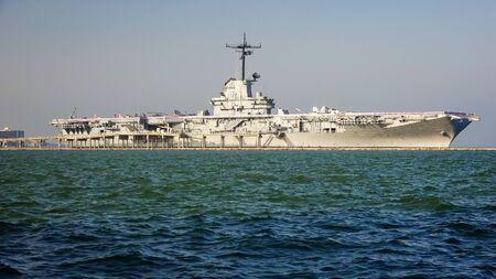 USS Lexington world war II aircraft carrier is now a museum in Corpus Christi, Texas