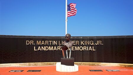 WEST PALM BEACH, FLORIDA - JUNE 13th: The Dr. Martin Luther King Jr Landmark Memorial in West Palm Beach, Florida on June 13th, 2016.