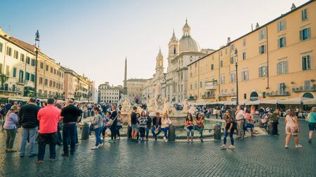 Piazza Navona aka Navona Square was built on the grounds of an ancient athletic stadium