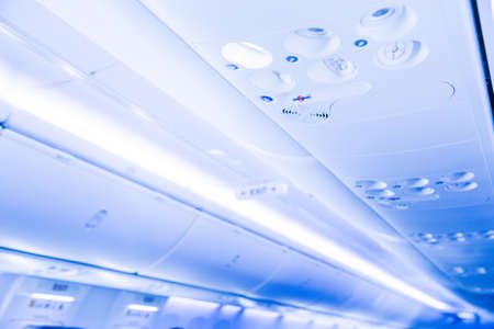 overhead console in the modern passenger aircraft air conditioner