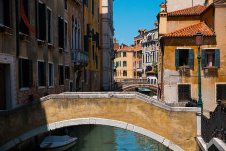 Canal in Venice. The charm of Italy. Stockfoto