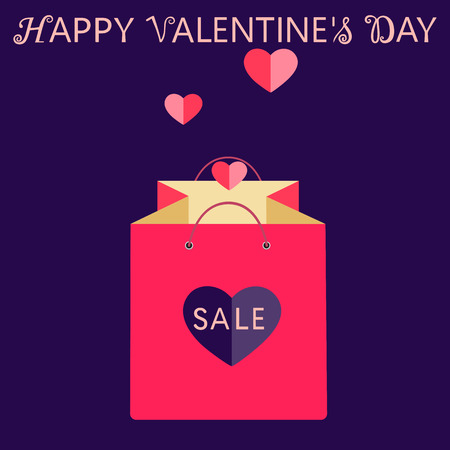 Valentines day sale and discount and wishing happy valentines day.